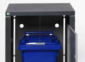 Abris a conteneur dechets sécurisés