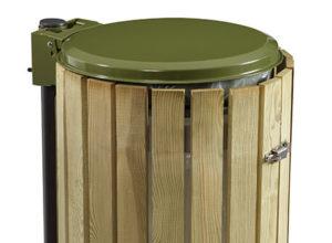 Cache poubelle bois