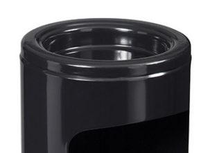 Cendrier corbeille à poser métal 0,15/12,5L noir graphite ligne Cendeo