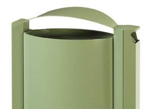 Cendrier corbeille sur pied 40 litres anti corrosion