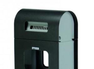 Cendrier poubelle à poser ou fixer métal 2/20 litres gris manganèse