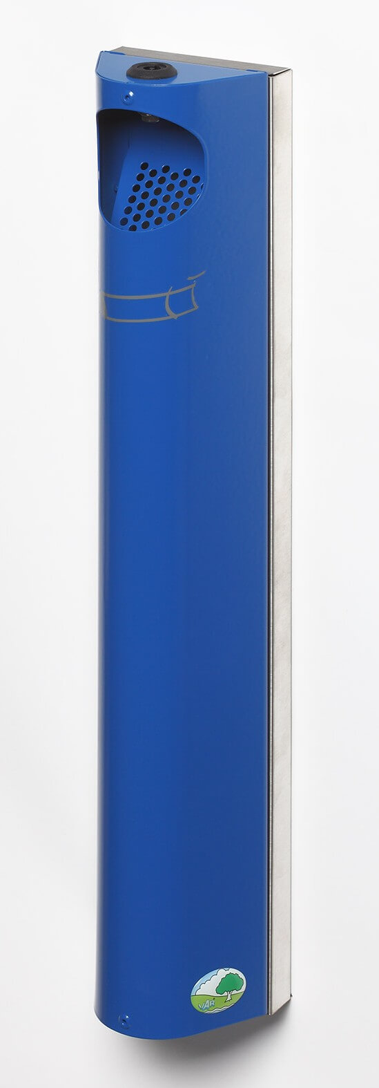 Cendrier rond mural avec serrure 3.5 L