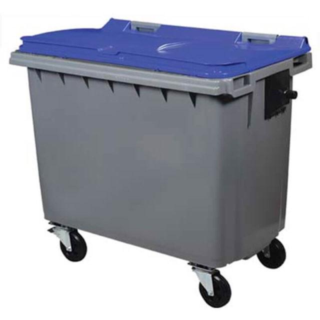 Conteneur bleu 660 litres