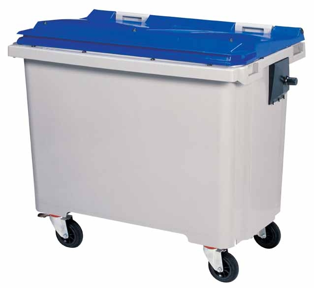 Conteneur bleu 770 litres