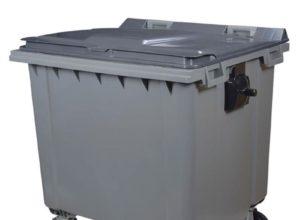 Conteneur déchets 1000 litres gris