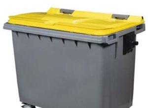 Conteneur déchets jaune 660 litres