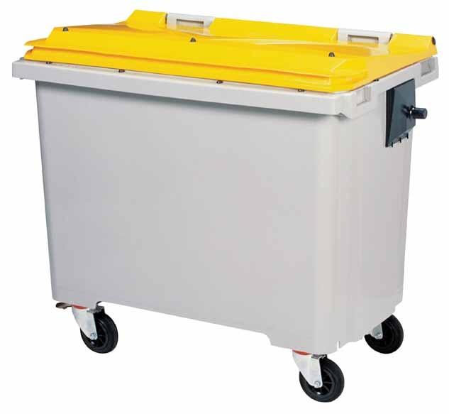 Conteneur déchets jaune 770 litres