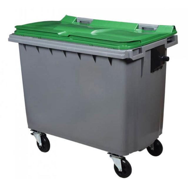 Conteneur poubelle 660 litres