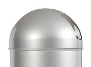 Poubelle avec couvercle à trappe en acier 45 litres