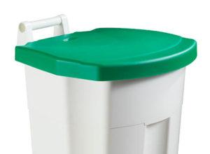 Poubelle blanche à pedale haccp 90 litres