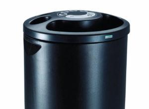 Poubelle collecteur de gobelets en plastique 25 litres noir