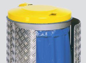 Poubelle exterieure acier verrouillable