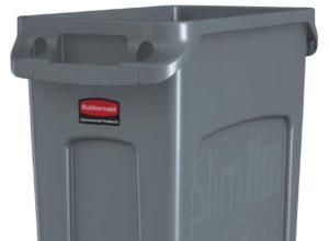 Poubelle Slim Jim de recyclage gris rubbermaid 87 litres