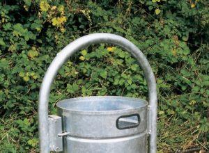Poubelle support lyre 60 litres