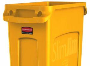 Slim Jim poubelle 87 litres rubbermaid jaune