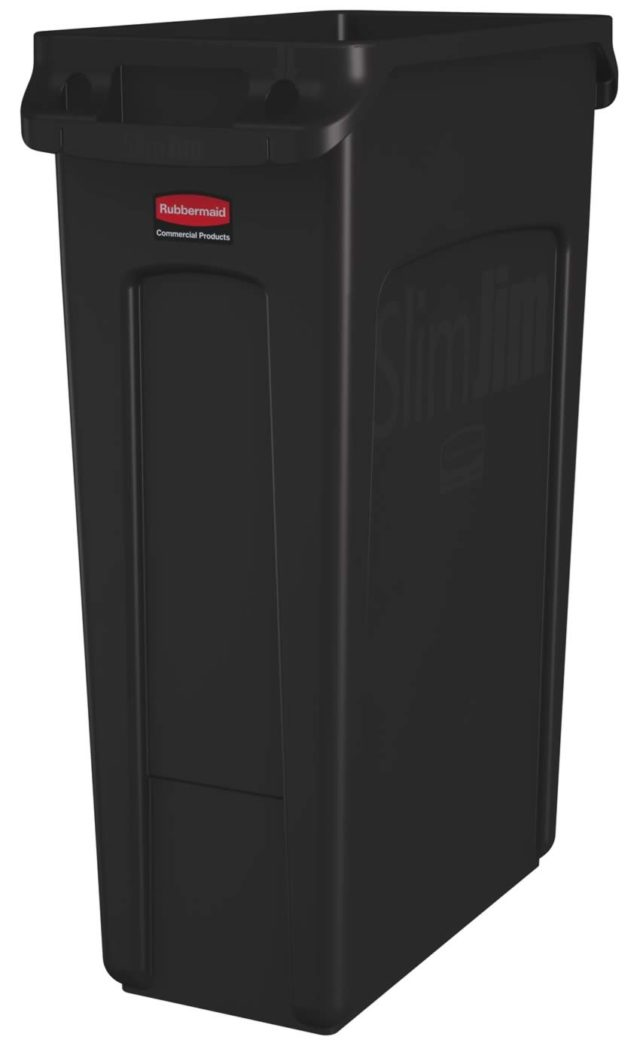 Slim Jim poubelle 87 litres rubbermaid marron