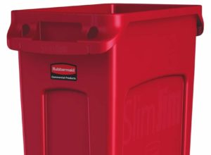 Slim Jim poubelle 87 litres rubbermaid rouge