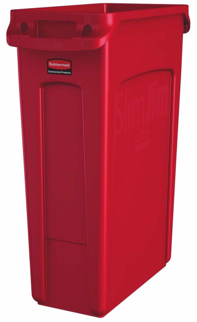 Slim Jim poubelle 87 litres rubbermaid rouge