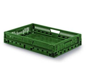 Bac pliable de récolte vert