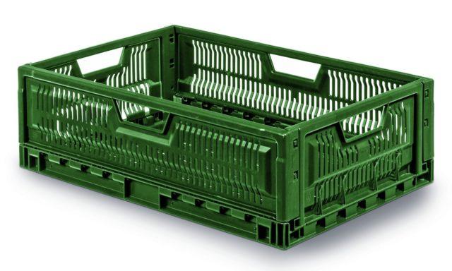 Cageot plastique pliable