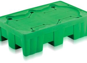 Palette plastique rétention 2 fûts 215 litres QS000